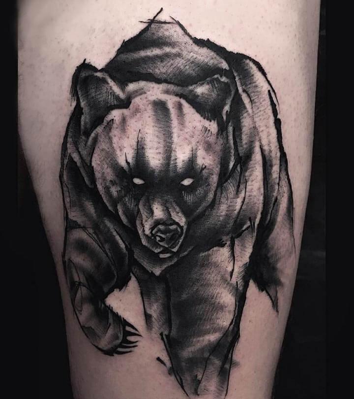 Bear Geometric Tattoos