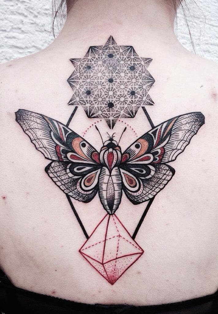 Butterfly geometric tattoos