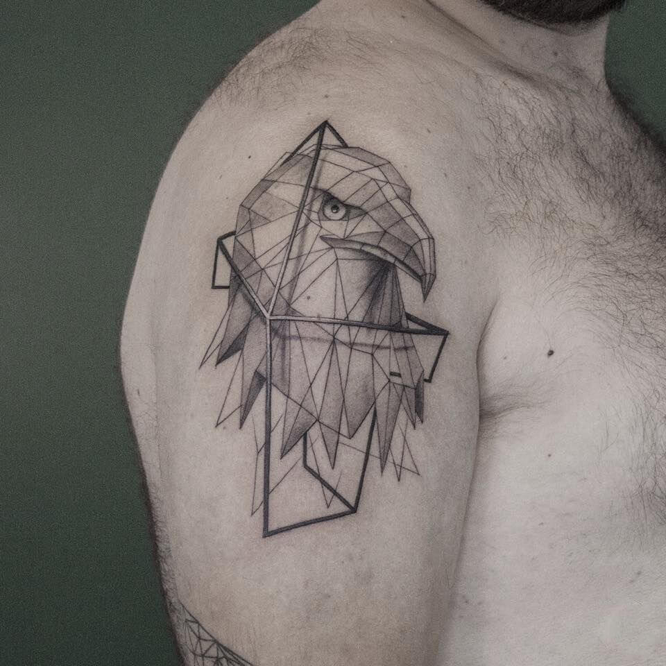 Eagle Geometric Tattoos