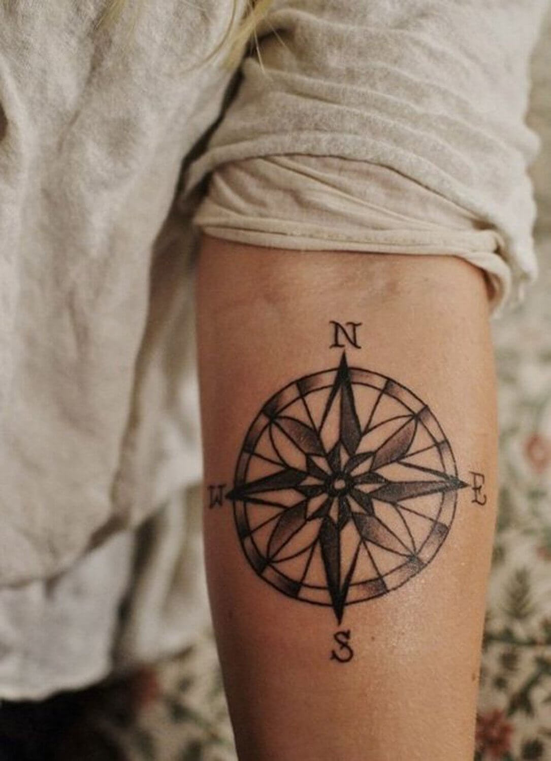 Compass Geometric Tattoos