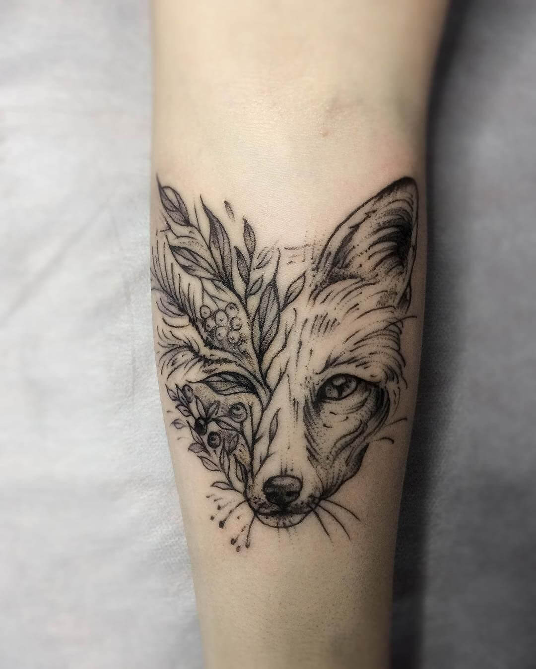 Fox Geometric Tattoos