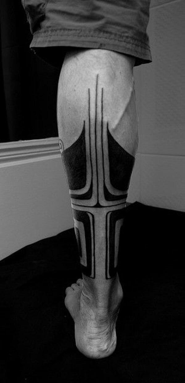 Leg Geometric Tattoos
