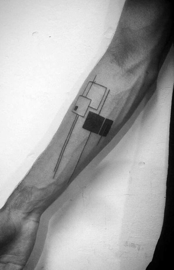 Minimalist geometric tattoos