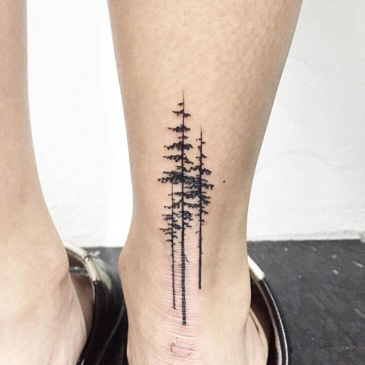 Tree Geometric Tattoos