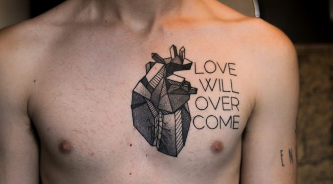 Heart Geometric Tattoo Images