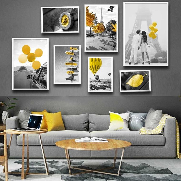 20 Perfect Combination of Yellow and Gray