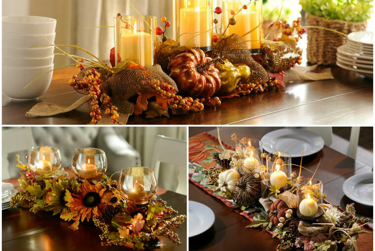 40 Original Centerpiece Ideas to Decorate Your Table in the Fall